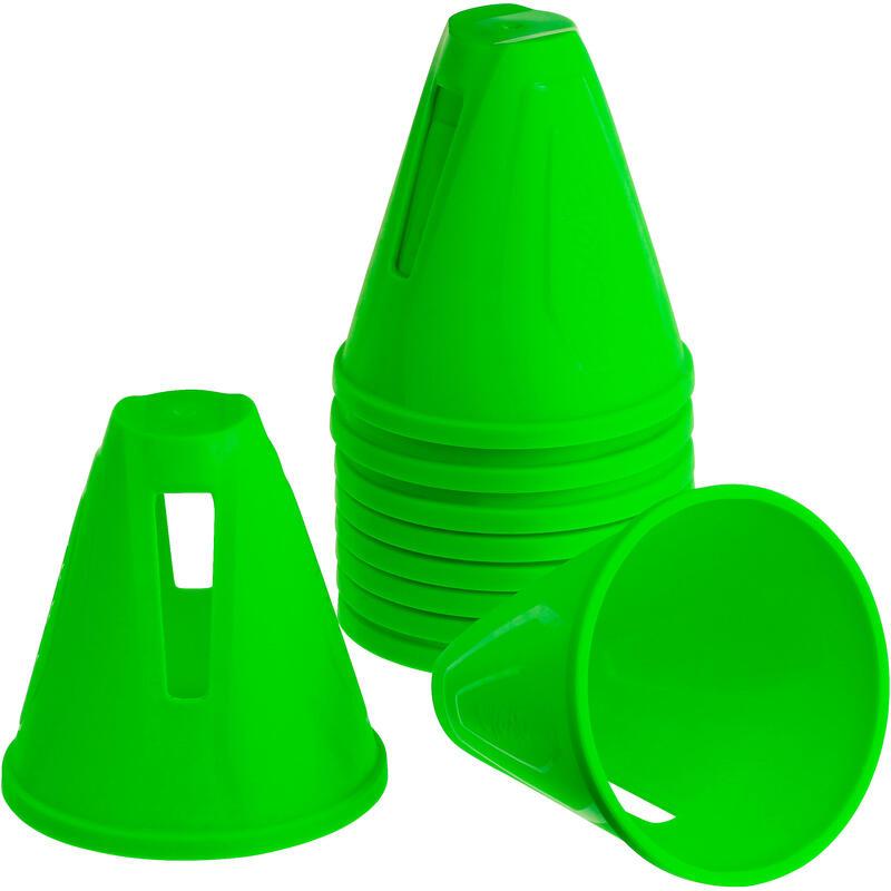 Inline Skating Slalom Cones 10-Pack - Green