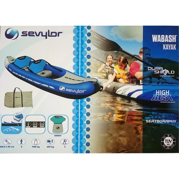 CANOE KAYAK GONFLABLE WABASH 2 Places BLEU - 1018705