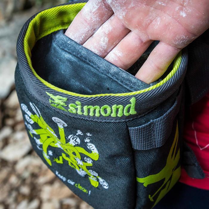 Magnesiumzak voor klimmen Chalk Barrier maat L groen/zwart