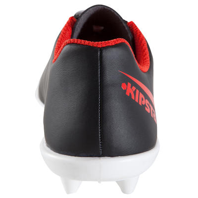 First FG Kids' Football Dry Pitch Boot - Black/White/Red