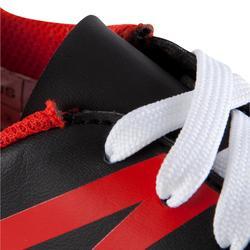 Botas Fútbol Kipsta First FG Terrenos Secos Niño Negro Blanco Rojo