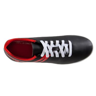 حذاء كرة قدم للأطفال مخصص لملاعب النجيل الصناعي - أسود/أبيض/أحمر