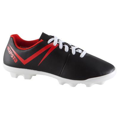 1399267d8 حذاء كرة قدم للأطفال مخصص لملاعب النجيل الصناعي - أسود/أبيض/أحمر