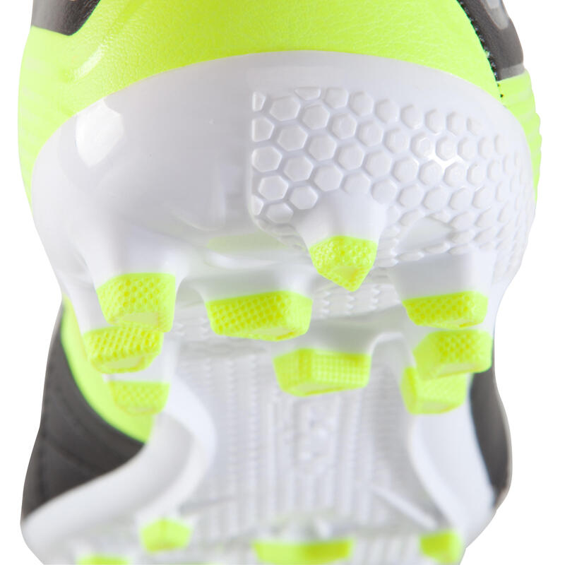 Agility 700 AG Kids Artificial Grass Football Boots - Black Yellow