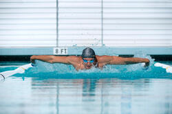 Peddel Fingerpaddle Quick'in voor zwemmen wit/blauw - 1020618