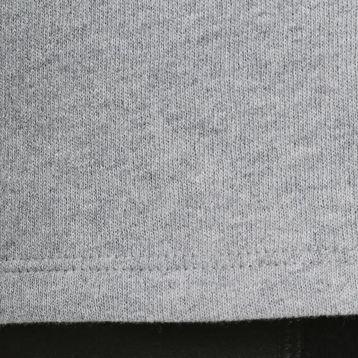Sudadera 100 gimnasia niño gris claro