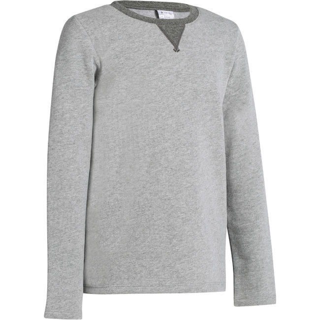 100 Boys' Gym Sweatshirt - Light Grey