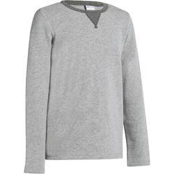 Gymsweater 100 jongens lichtgrijs