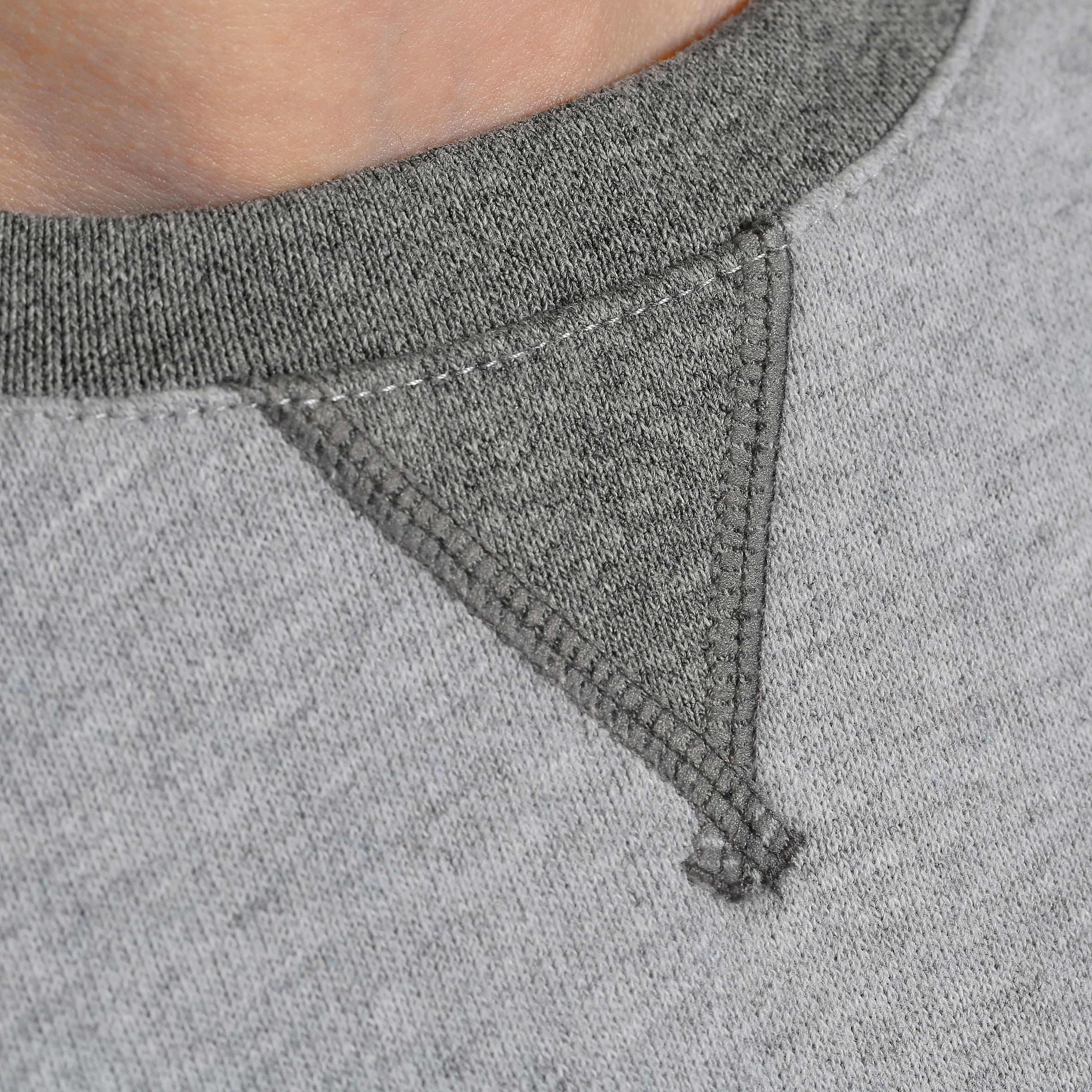 100 Boys' Gym Sweatshirt - Light Grey