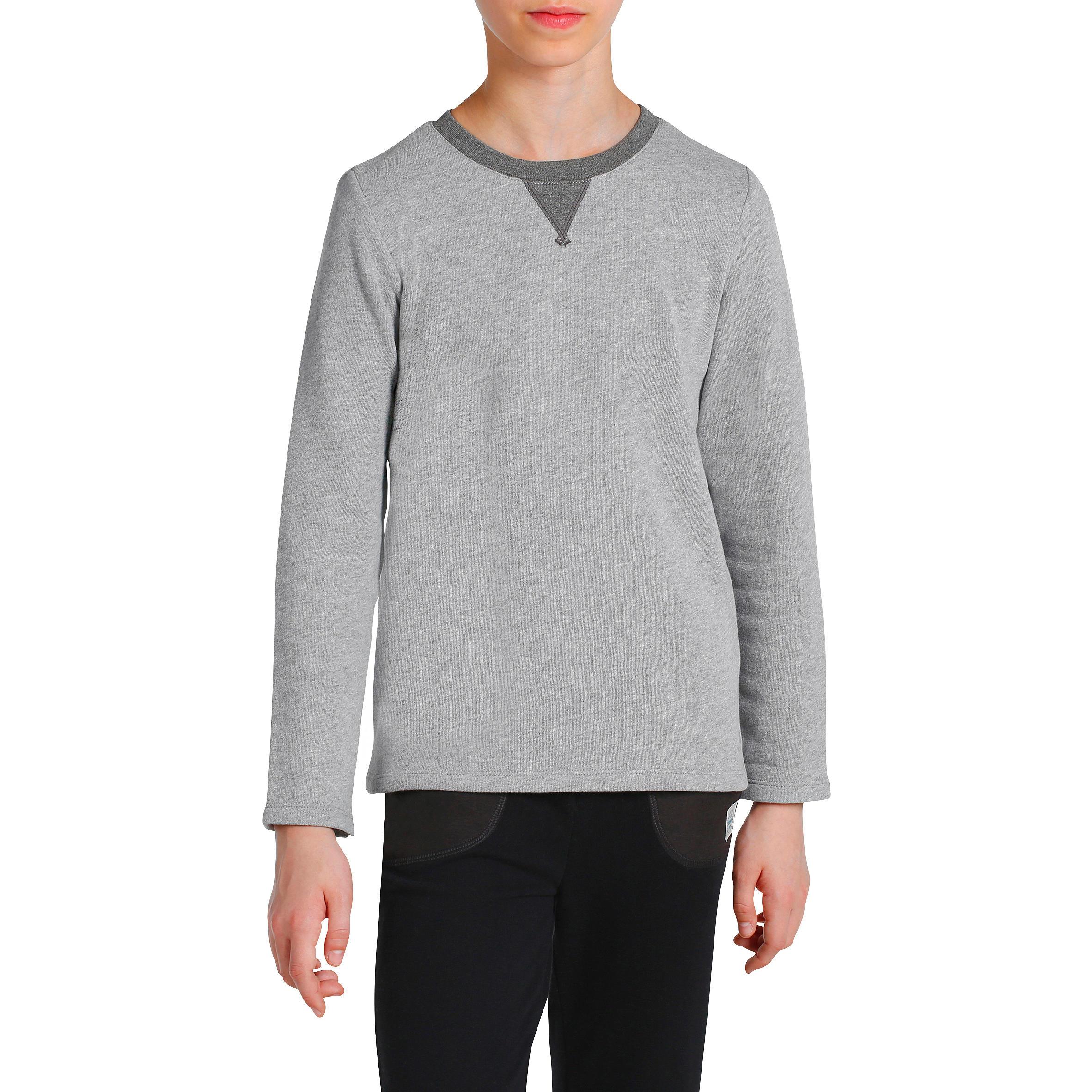 Boys' Warm Gym Sweatshirt - Grey
