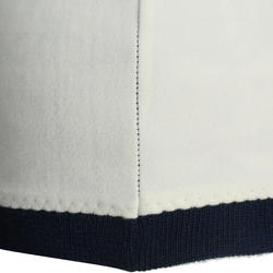 Jacquard skimuts voor volwassenen wit marineblauw