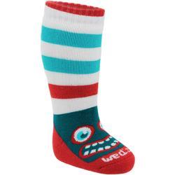 LUGE/SKI 100 嬰幼兒雪橇/滑雪橇運動襪 紅色 藍色怪獸