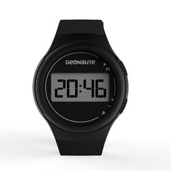 Ditigaal sporthorloge met stopwatch voor heren W100 M zwart