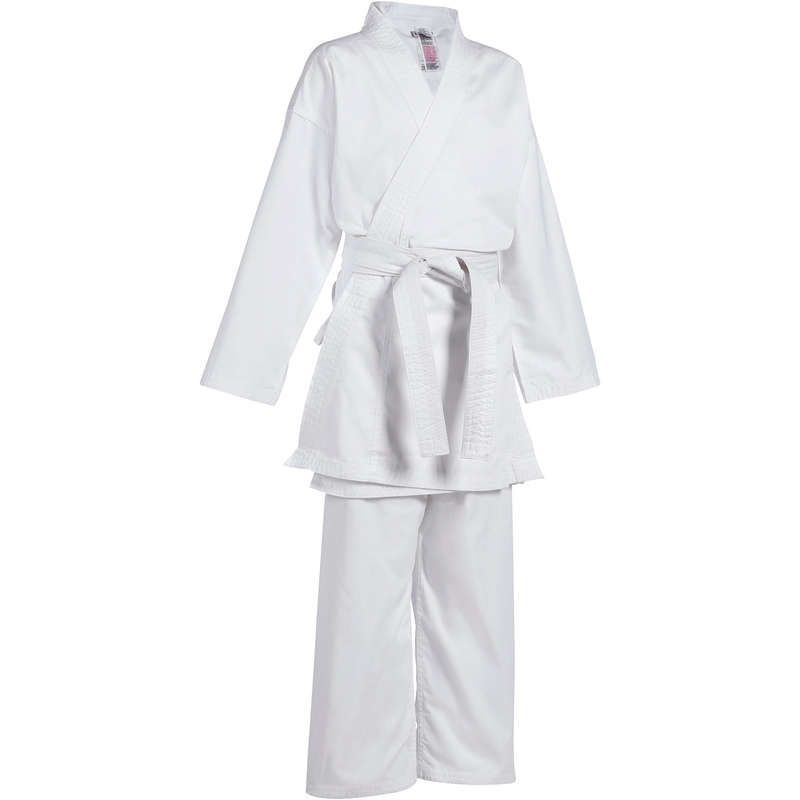 Karate Box si arte martiale - Kimono Karate 100 Alb Copii  OUTSHOCK - Karate, Taekwondo