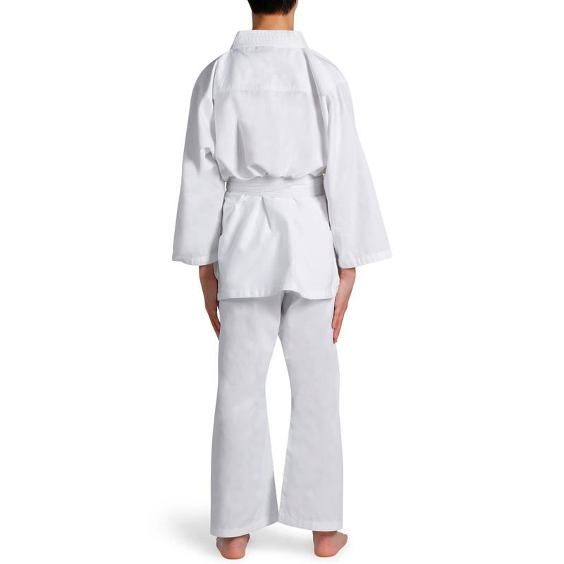 100 Kids' Judo Uniform - White