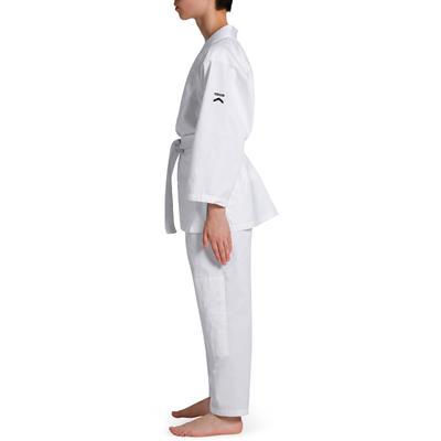 100 Kids' Judo Uniform - White