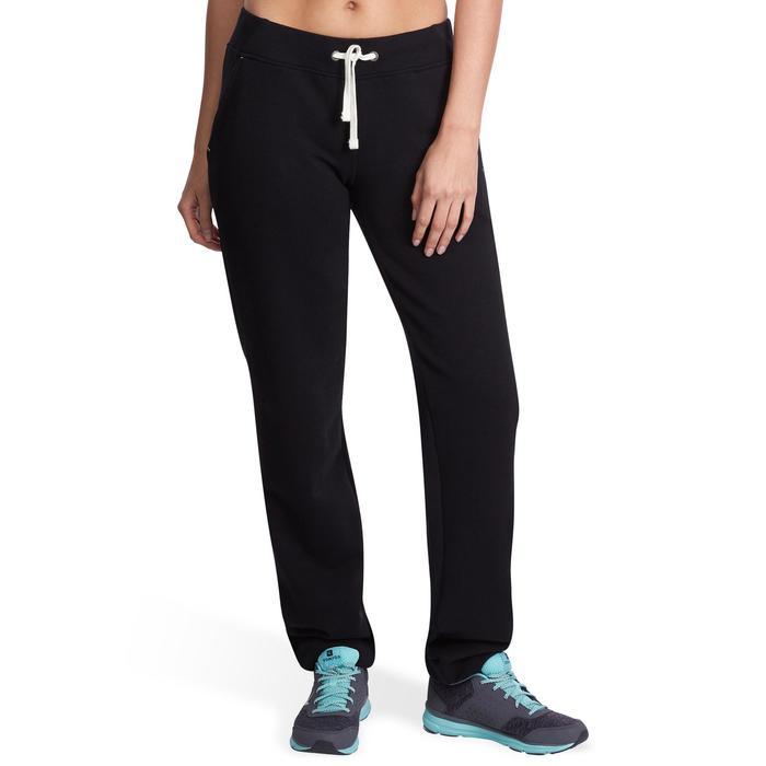 Jogginghose 500 Regular Gym Stretching Damen schwarz