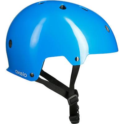 Casque roller skateboard trottinette vélo PLAY 3 bleu
