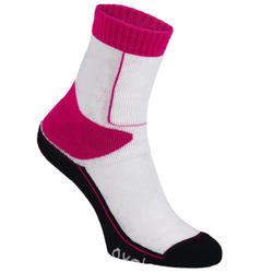 Play Kids Inline Skating Socks - Pink/White