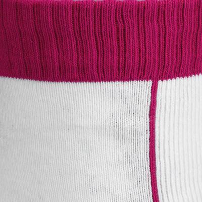 Chaussettes roller enfant PLAY rose blanc