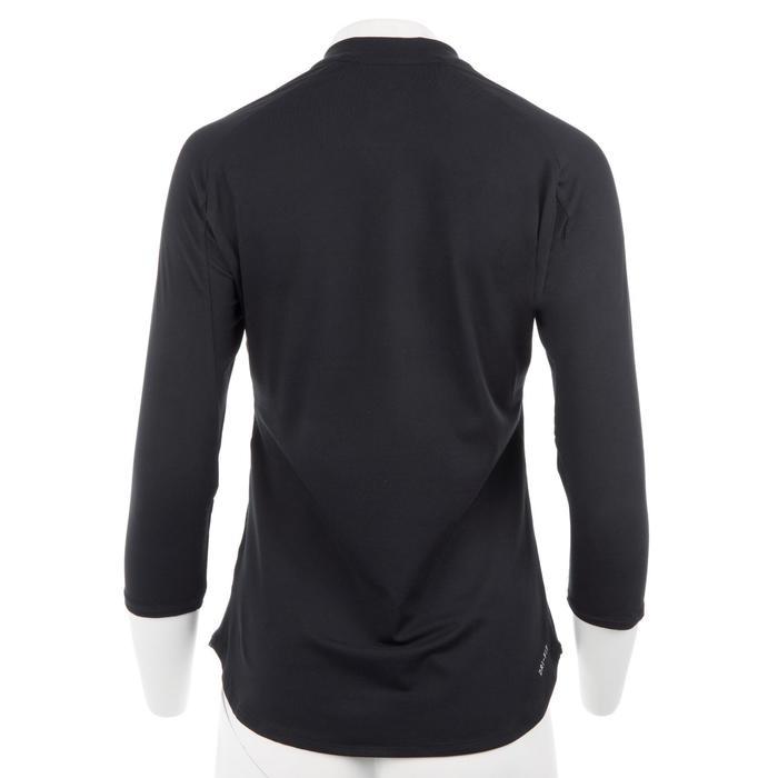 Tennis T-shirt Nike Pure 3/4-mouwen dames zwart