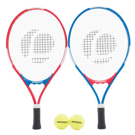 Set tennisrackets voor kinderen blauw/rood - 1022275