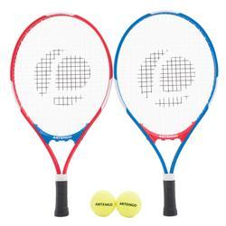 Tennisracketset kinderen TR100 blauw rood