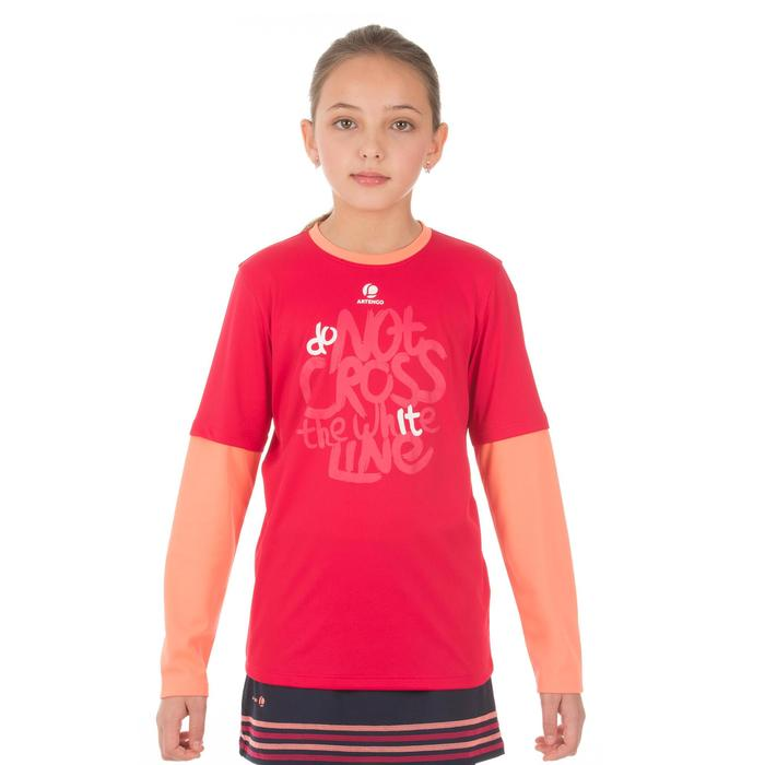 T SHIRT FILLE ESSENTIEL ROSE TENNIS BADMINTON PING PONG PADEL SQUASH