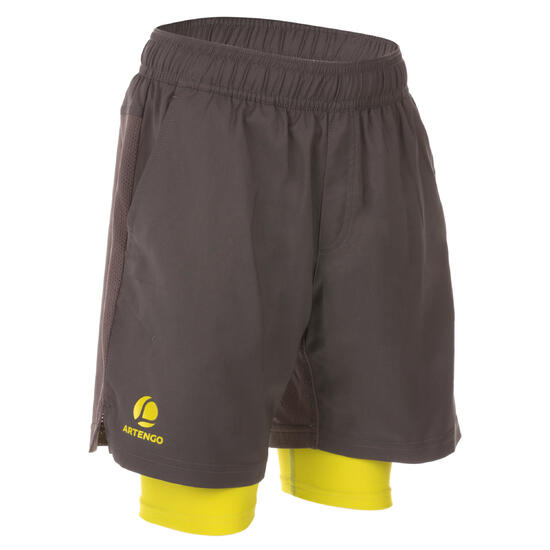 Short Thermic kinderen 2 in 1 tennis/badminton/tafeltennis/padel/squash - 1022337