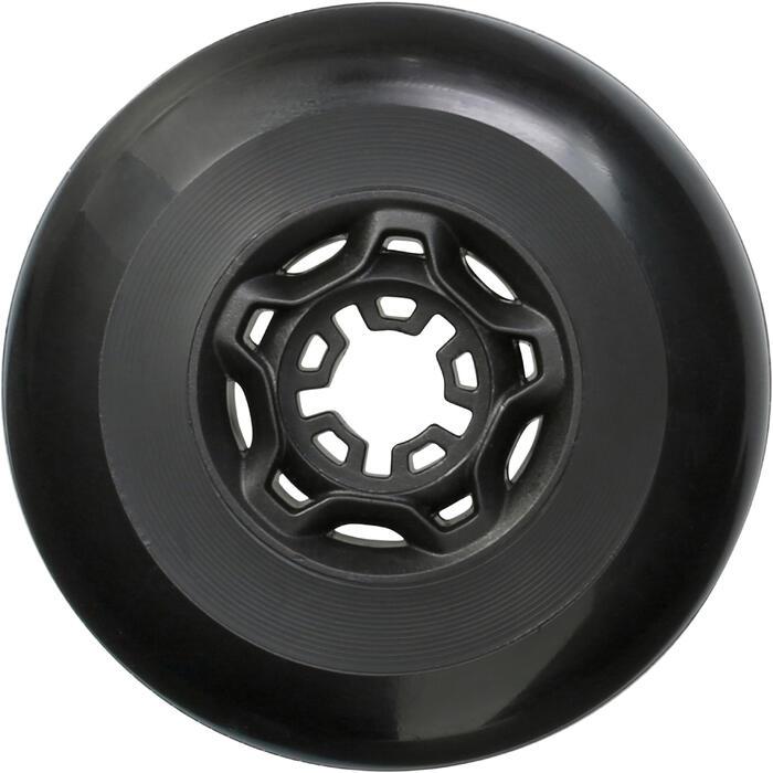 Rollen Freeride Inline-Skates 80mm 82A 4er-Pack schwarz