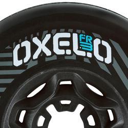 4 wielen freeride skeelers 80 mm 82A zwart
