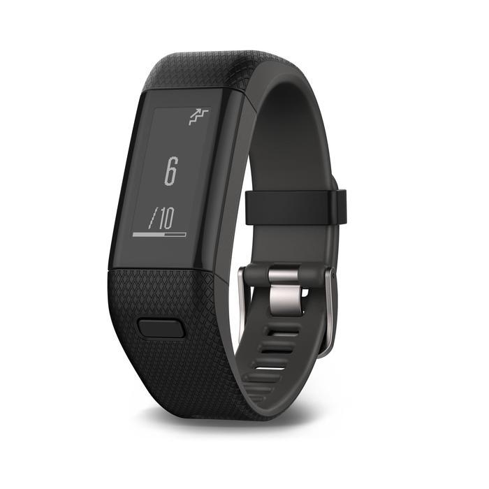 Bracelet d'activité Vivosmart HR+ cardio au poignet noir - 1022660