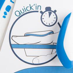 Peddel Fingerpaddle Quick'in voor zwemmen wit/blauw - 1022716