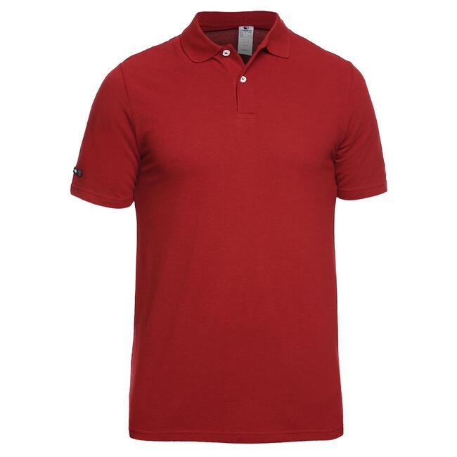 Men's Golf Polo T-Shirt 500 Marron Red