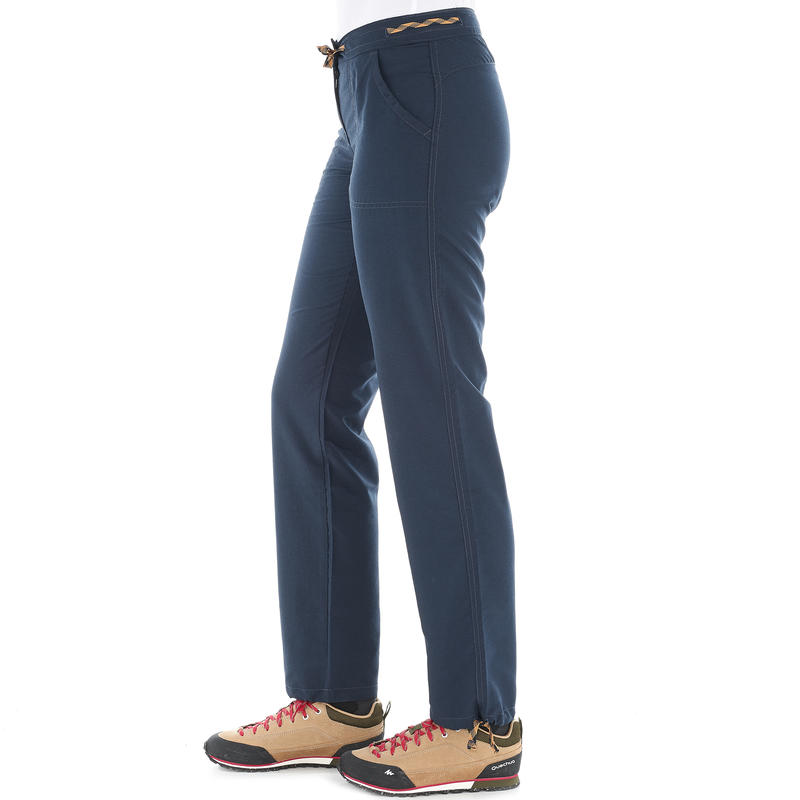 Women's Hiking Trousers NH100 - Navy Blue