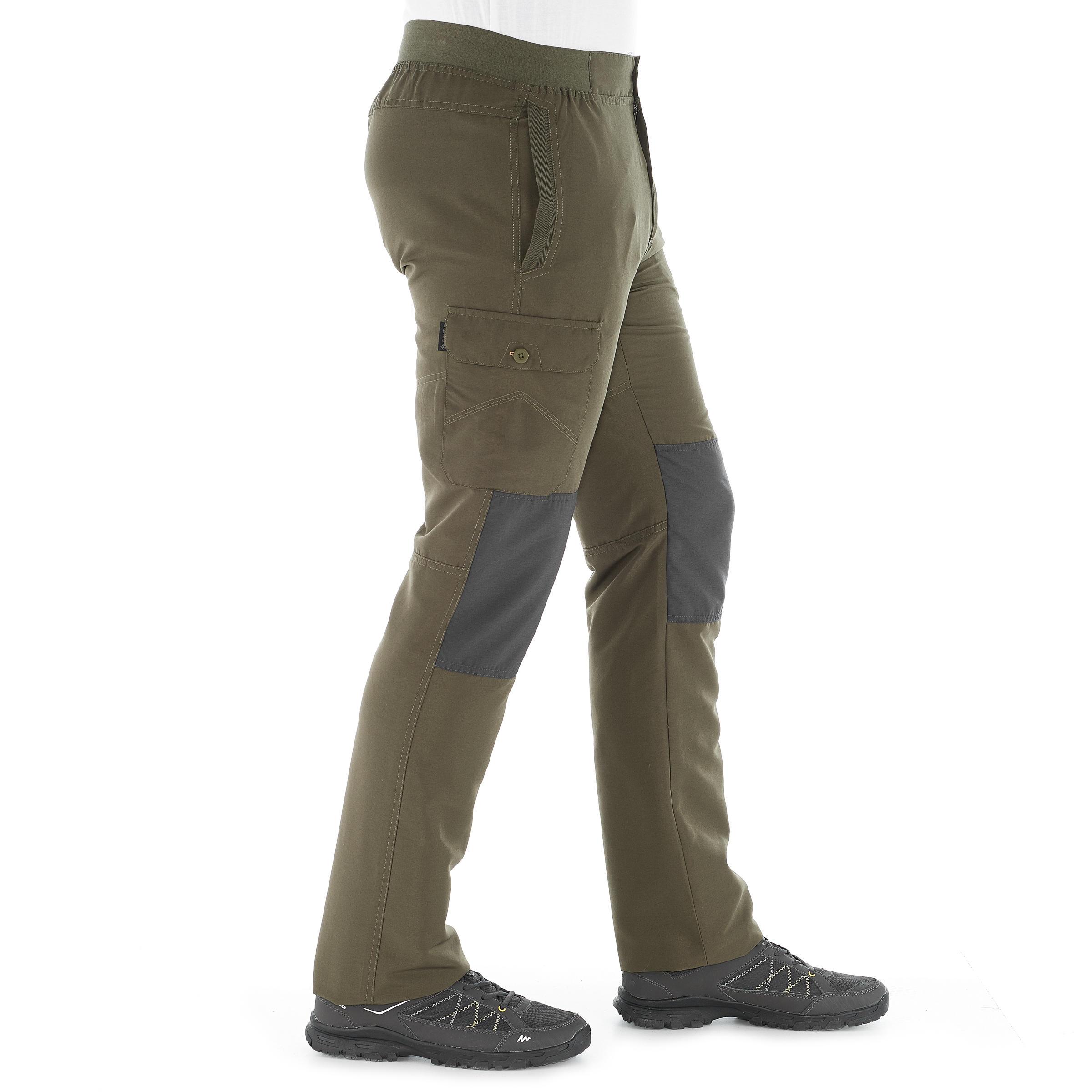 Pantalon randonnée nature NH100 kaki homme