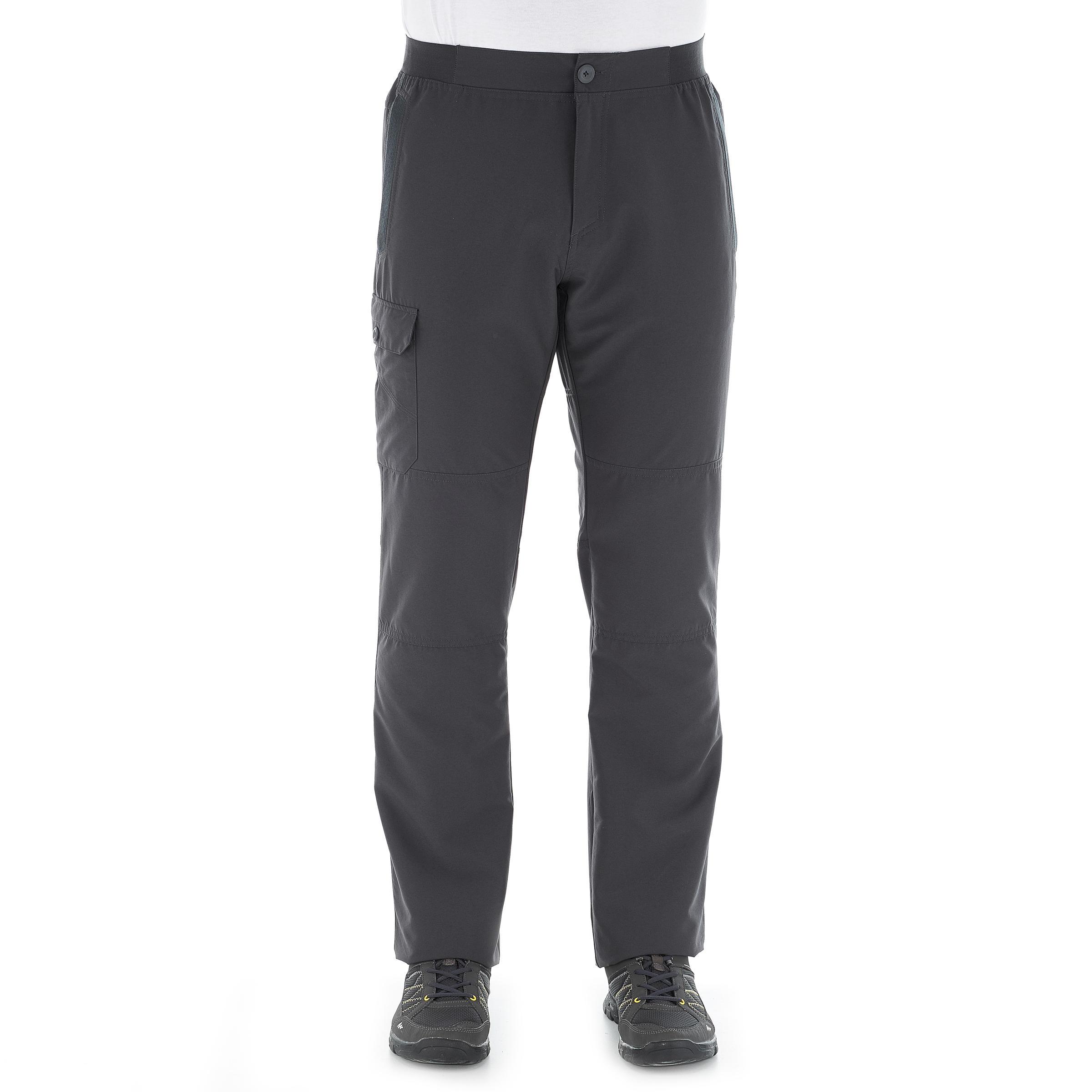 Men's Hiking Trousers NH100 - Grey
