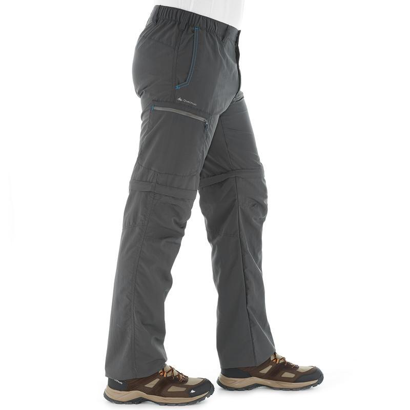 Pantalón Transformable senderismo Forclaz 50 Hombre Gris
