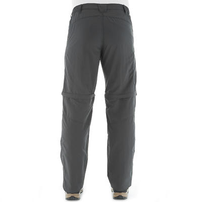 Forclaz 50 Men's Zip-Off Hiking Trousers - Grey