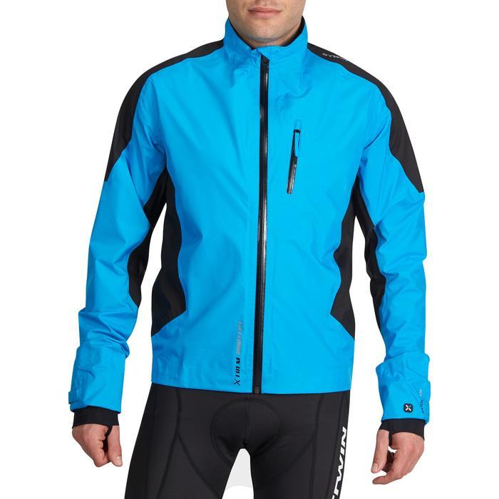 Regenjack MTB heren 900 blauw/zwart