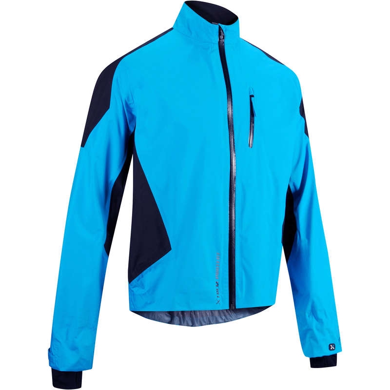 MEN WET WEATHER INT ADV ST MTB APPAREL Cycling - 700 Membrane Waterproof cycling jacket - blue ROCKRIDER - Cycling