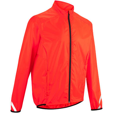 COUPE PLUIE VELO HOMME 100 ROUGE