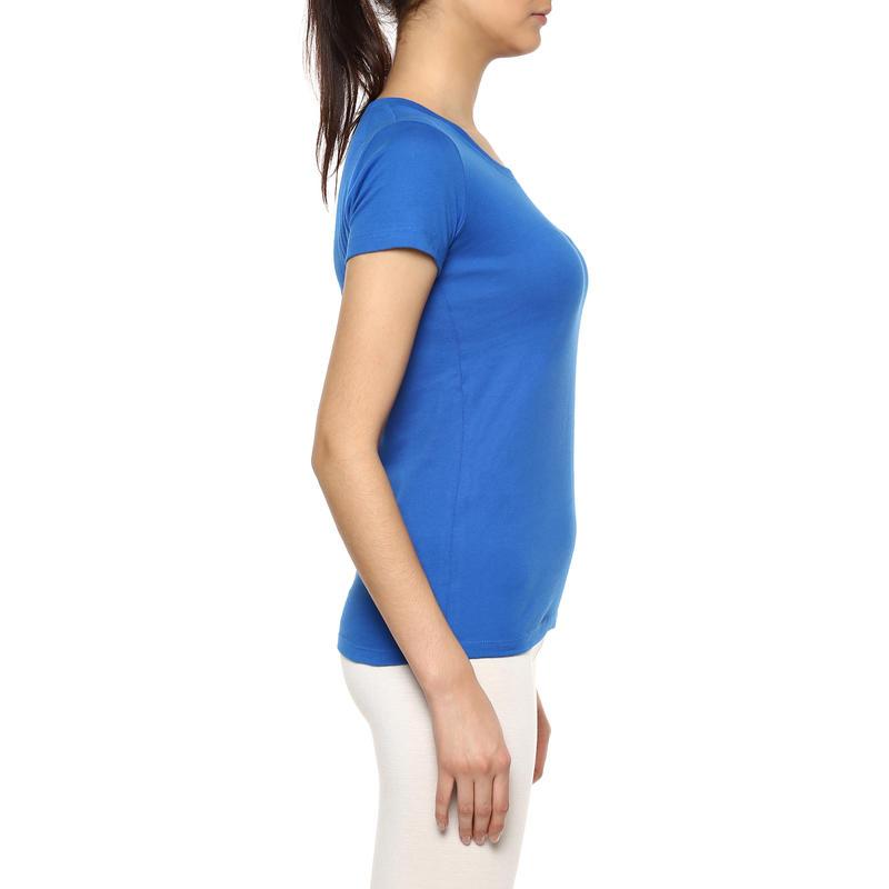 WOMEN T-SHIRT FITNESS ESSENTIAL - SPORTEE ELECTRIC BLUE