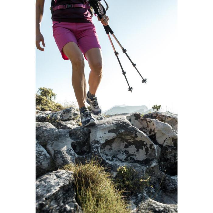 Pantalón corto de senderismo en montaña MH500 mujer azul turquesa
