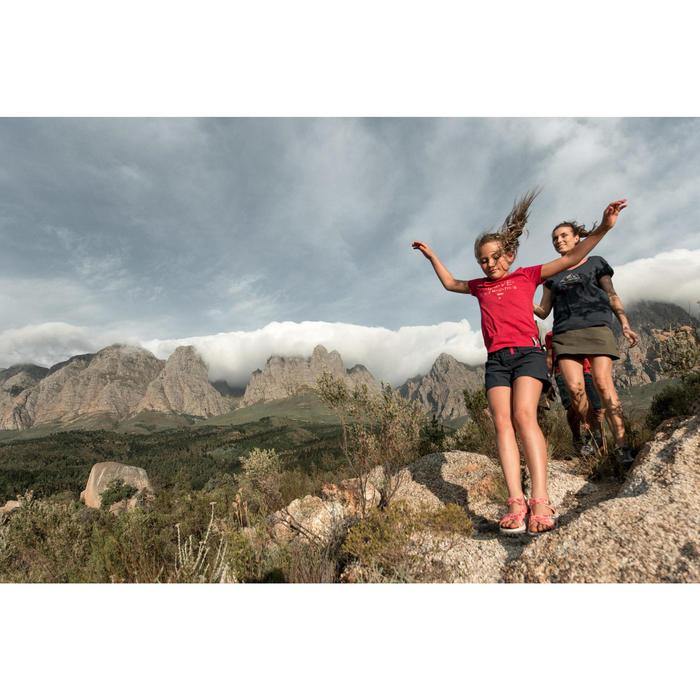 Falda-short senderismo en la naturaleza mujer NH100 burdeos
