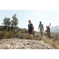 Jupe short de randonnée enfant Hike 100 corail