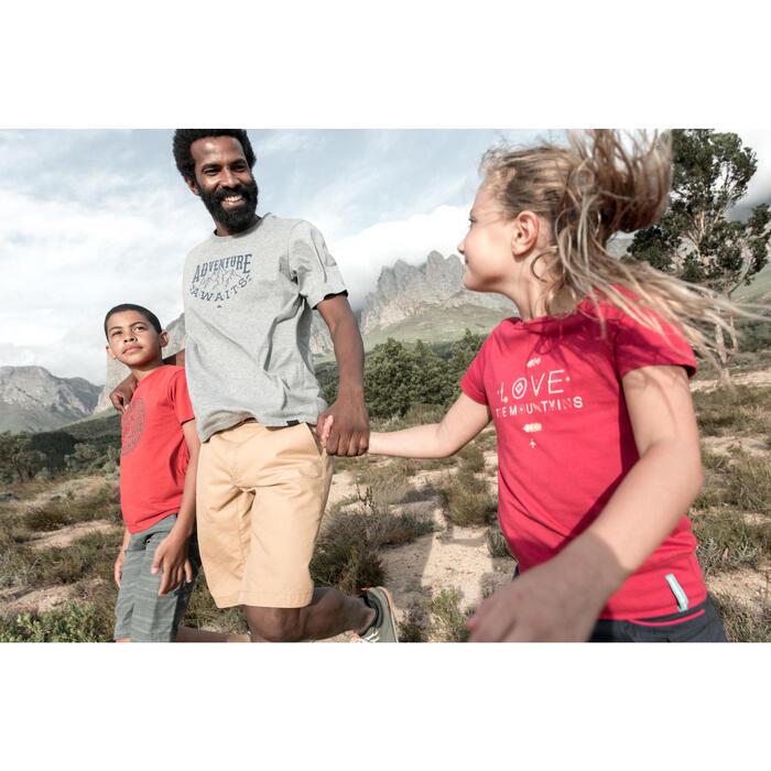 T-Shirt de randonnée enfant fille Hike 500 hibou - 1023449