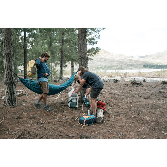 Pull randonnée nature homme NH150 bleu clair