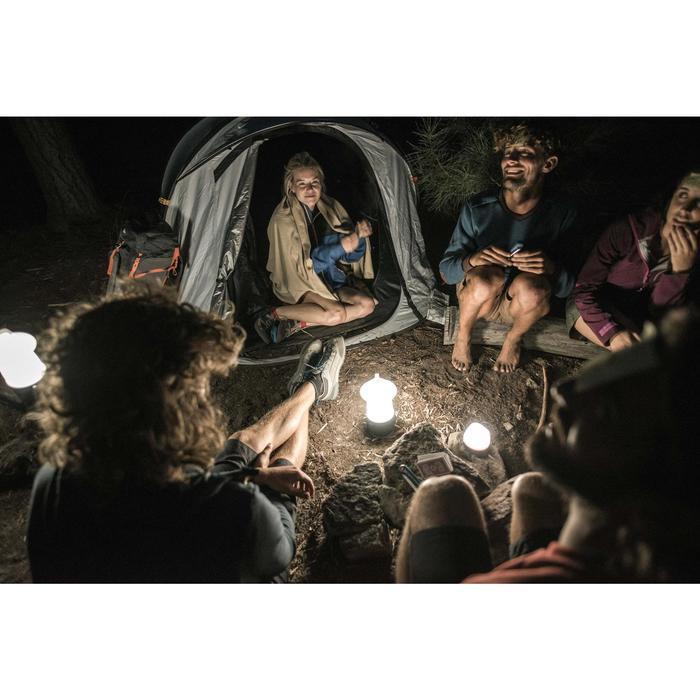 Herlaadbare lantaarn met dynamo kamperen / wildkamperen 50 lumen blauw