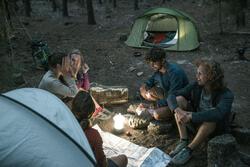Lamp voor kamperen / trekking BL 200 lumen herlaadbaar blauw - 1023588